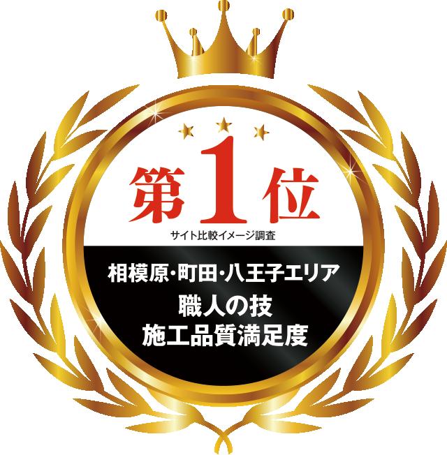 おかげさまで相模原・町田・八王子エリアで3つのNo.1を受賞いたしました